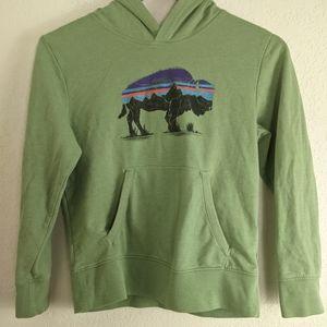 Patagonia Boys Medium Buffalo Green Pullover Sweatshirt